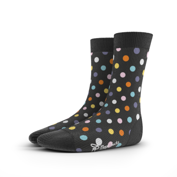 Magic Socks Bunt Muster Colors Gift Geschenk Dots Stripes